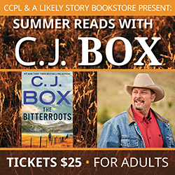 Author CJ Box and The Bitterroots book cover