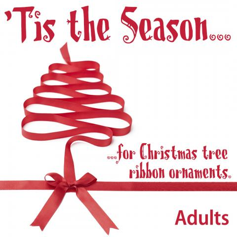 tis the season for christmas tree ribbon ornaments