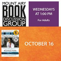Mount Airy Book Discussion Group: What the Eyes Don't See