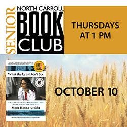North Carroll Senior Center Thursday Book Club: What the Eyes Don't See